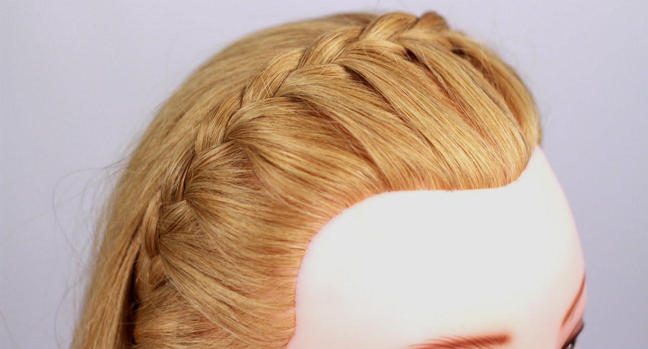 видео урок ободок из косы