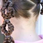 детские прически хвостики курс плетения кос