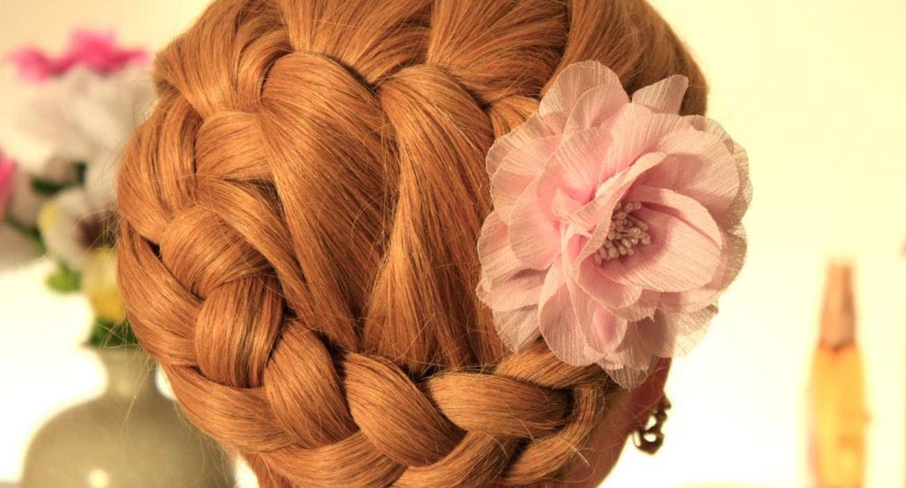 Фото плетение волос цветком