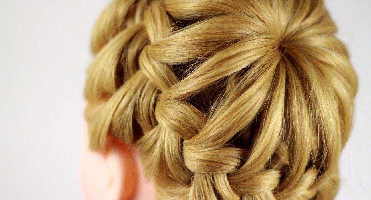 видео урок прическа клубничка из кос