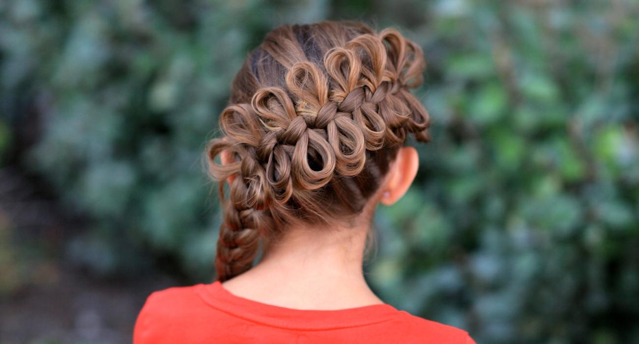 коса из бантиков