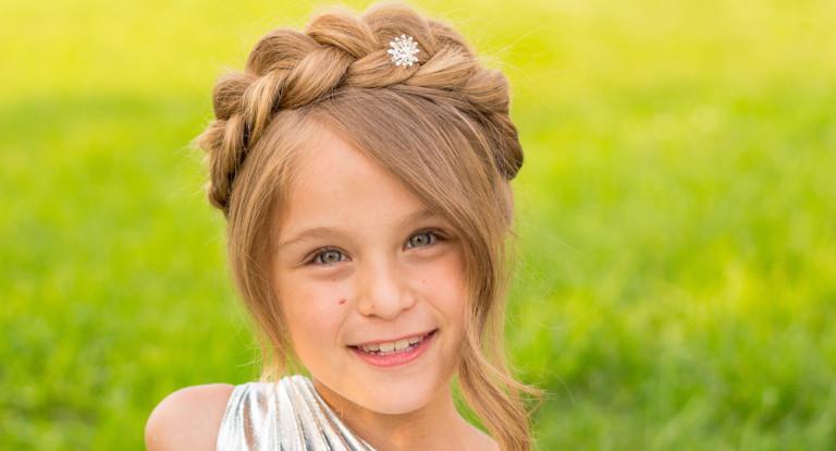 Прически с косами для маленькой девочки