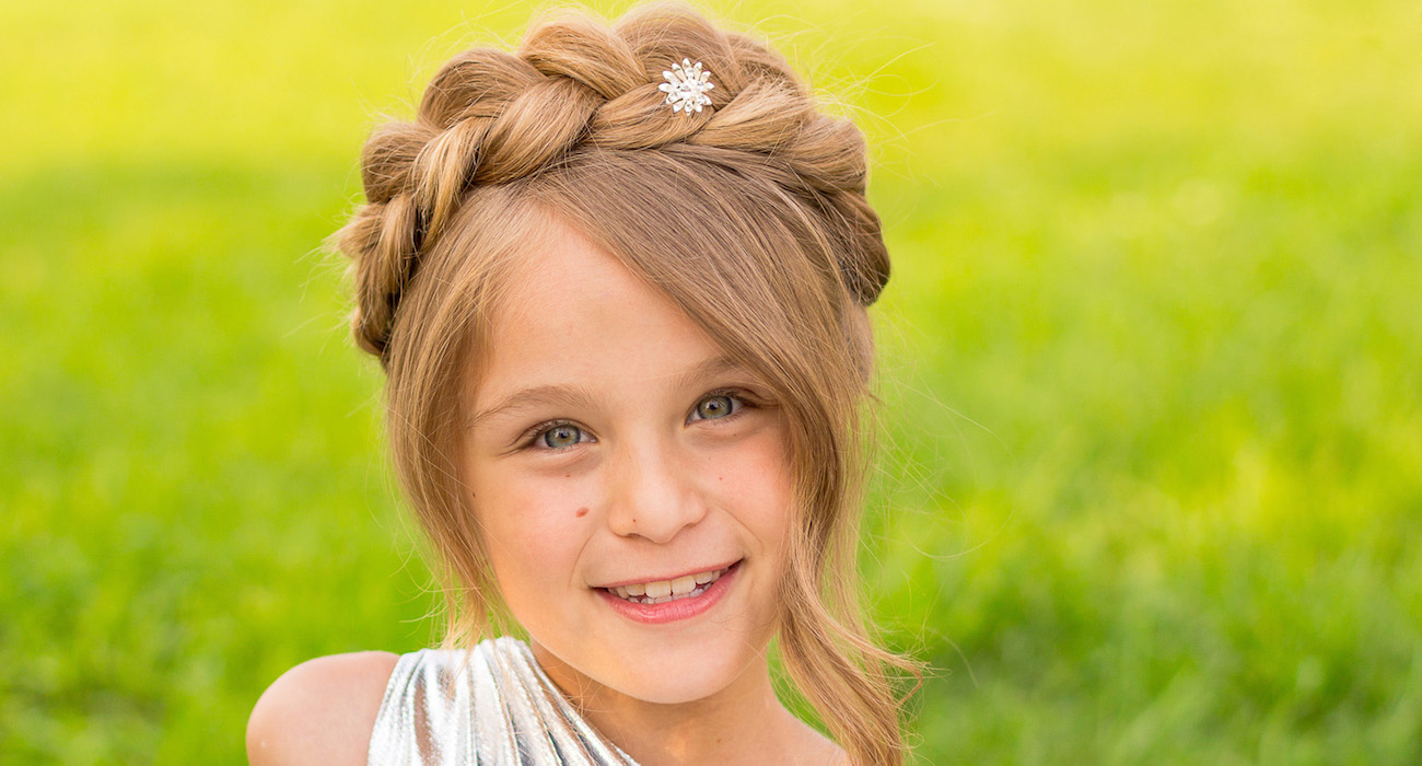 Прически для девочек с косой челкой