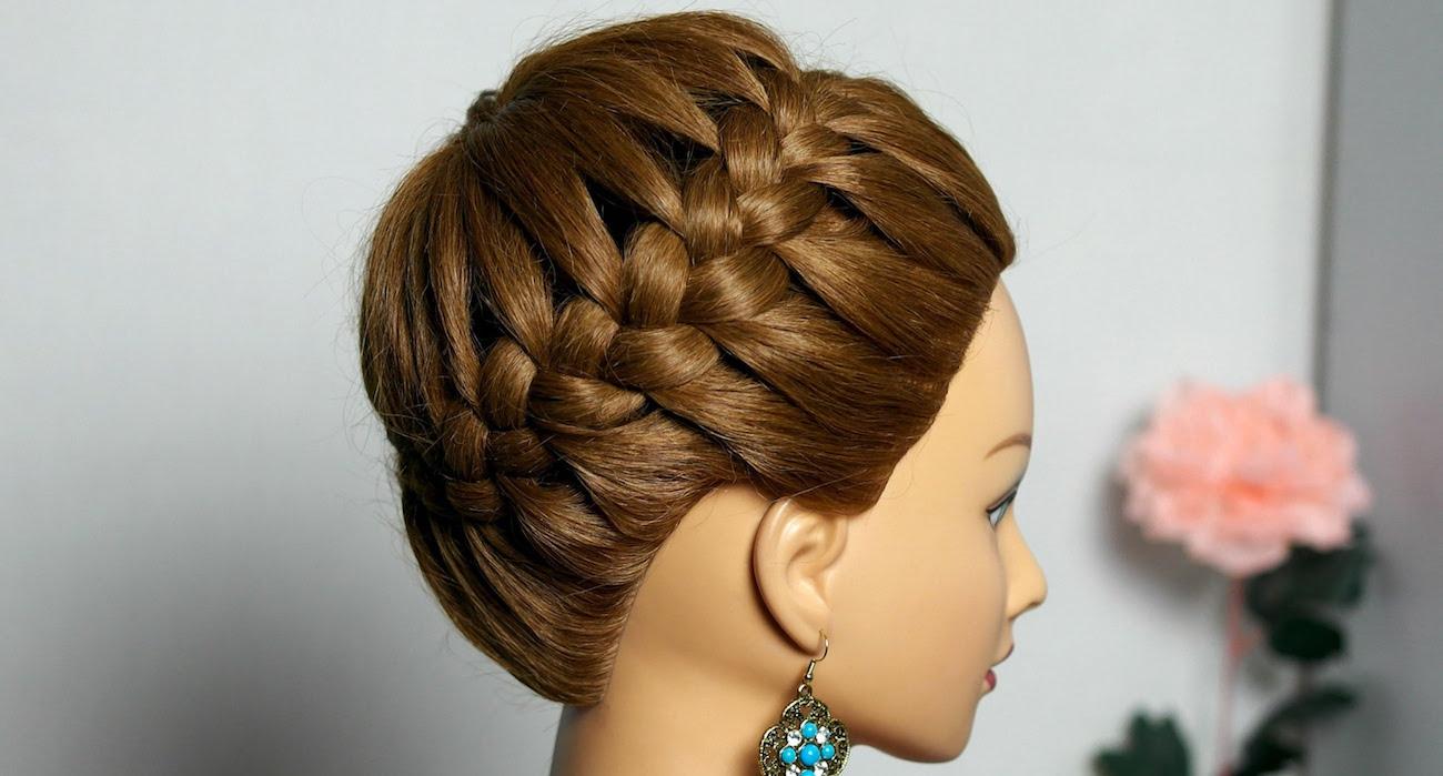 круговая коса с хвостом