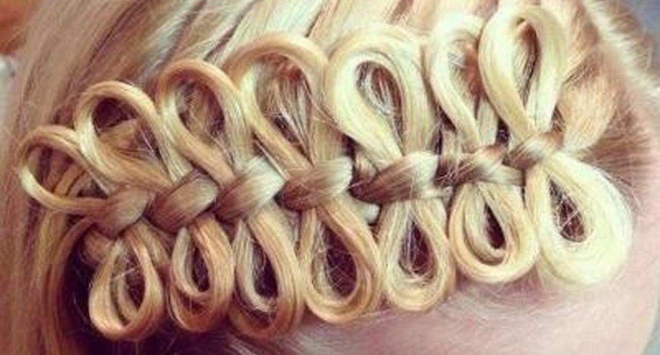 для плетения прическа бантики из кос