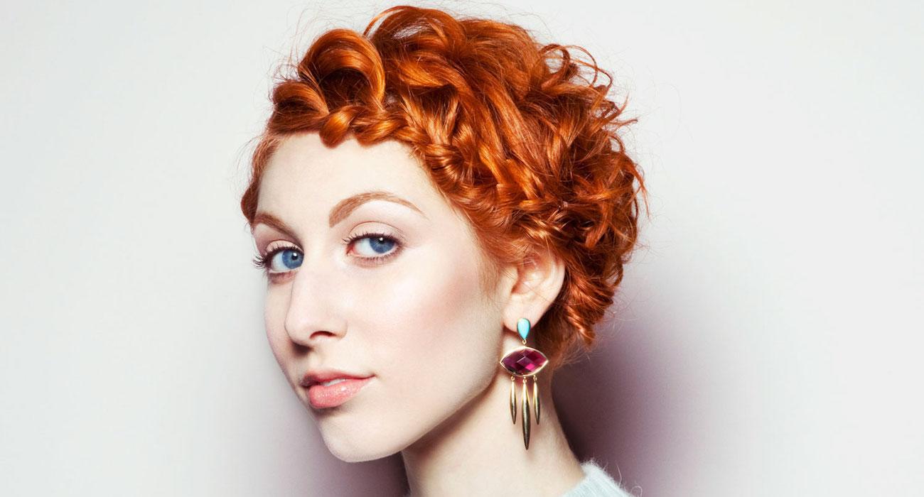 научиться плетению кос прическа на рыжие волосы