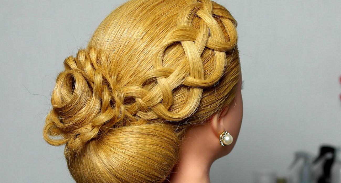 узелков плетение Прически, плетение кос