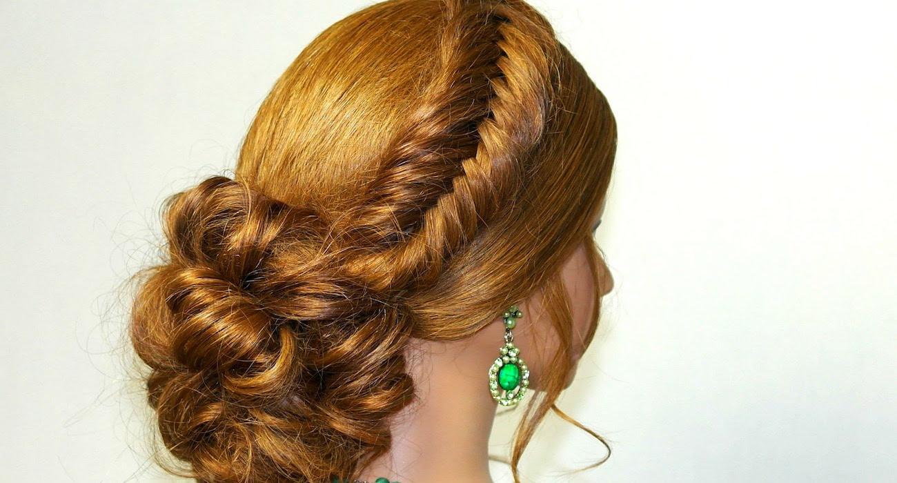 вечерняя прическа на длинные волосы курсы стилистов