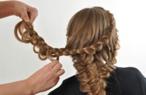 как делать цветы из кос