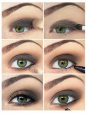 серый цвет в макияже