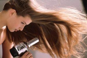 укладка волос феном