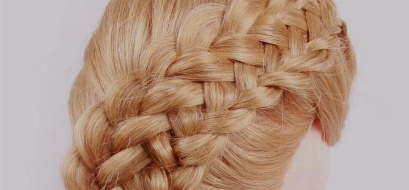 Азбука плетения — Сдвоенная коса из 7 прядей.
