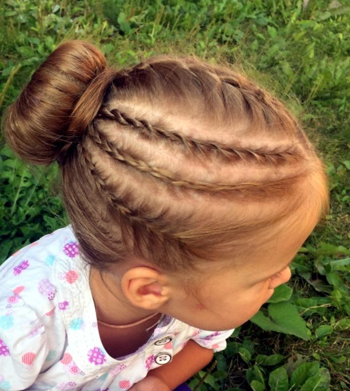 Детские прически из кос