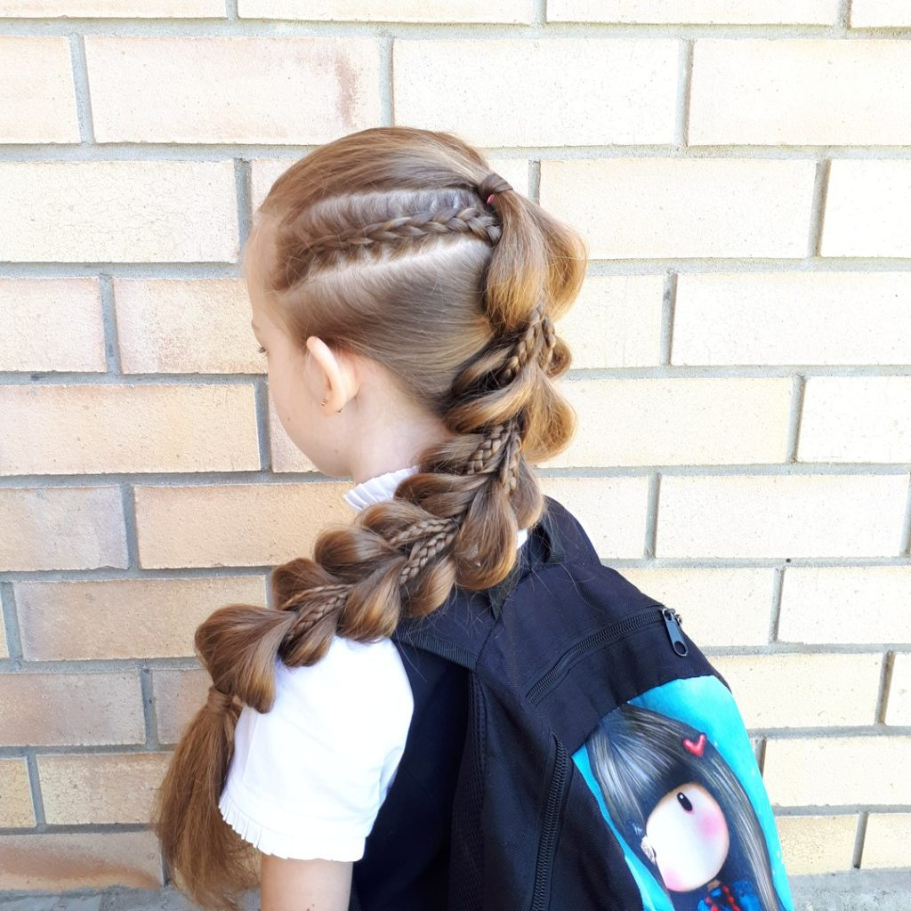 Коса из резинок