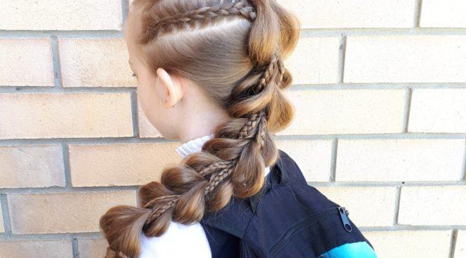Прически и косы из резинок для детей / Фото
