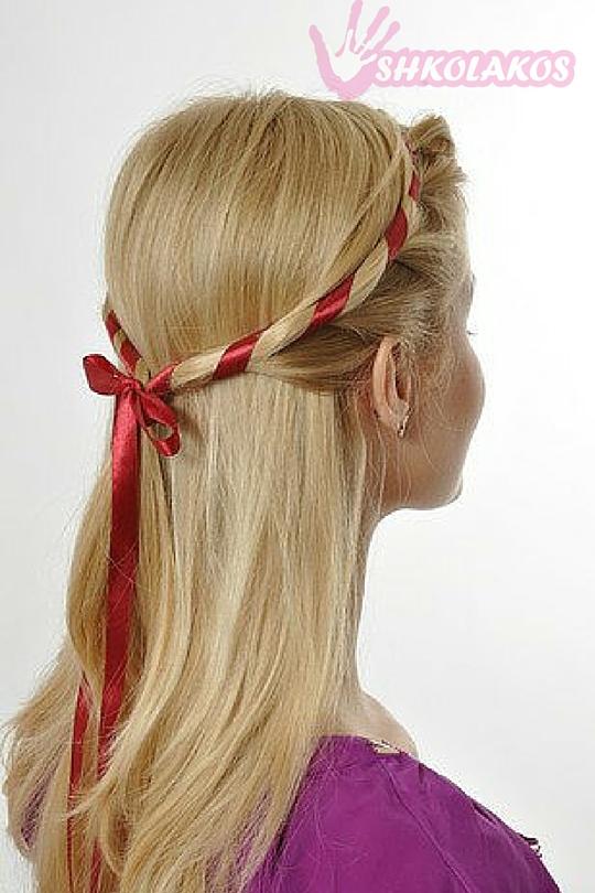 косая прическа