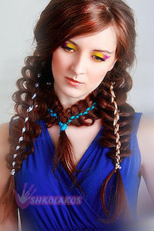 свадебная прическа коса